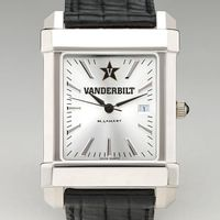 Vanderbilt Men's Collegiate Watch with Leather Strap