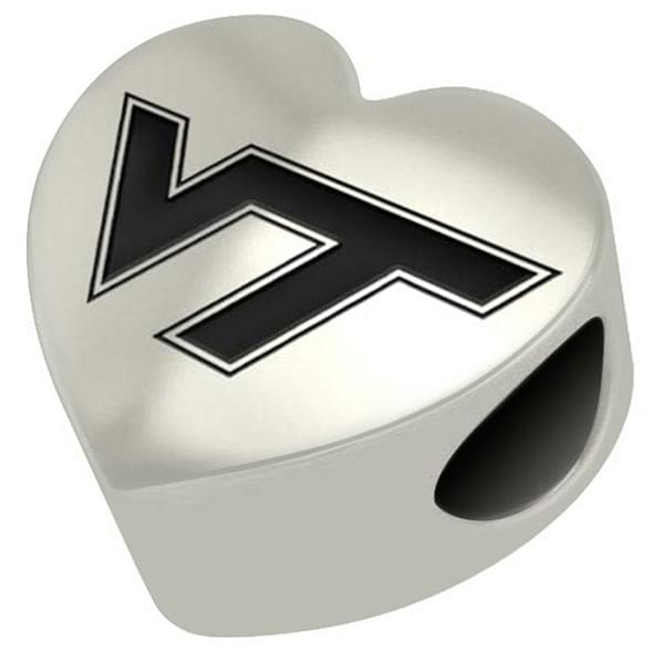 Virginia Tech Heart Shaped Bead - Image 2