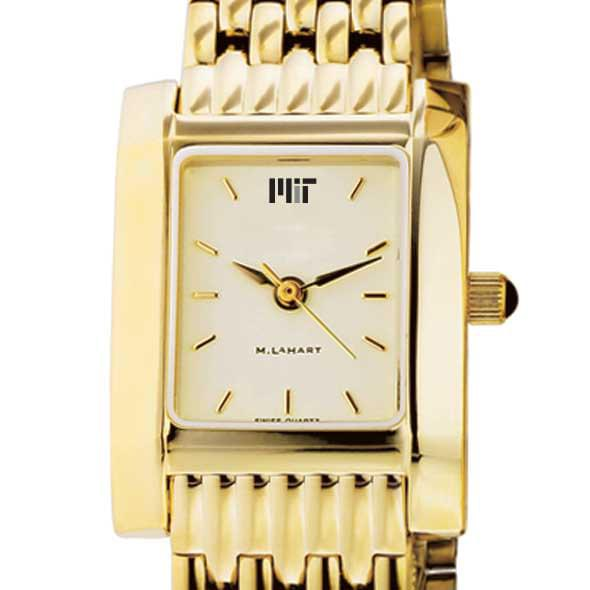 MIT Women's Gold Quad Watch with Bracelet - Image 1