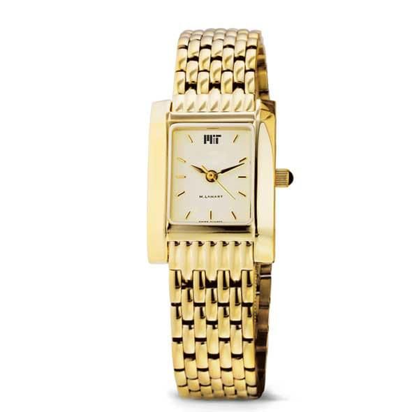 MIT Women's Gold Quad Watch with Bracelet - Image 2