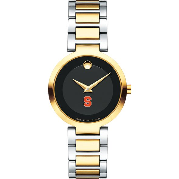 Syracuse University Women's Movado Two-Tone Modern Classic Museum with Bracelet - Image 2