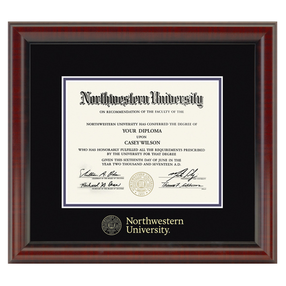 Northwestern University Diploma Frame, the Fidelitas