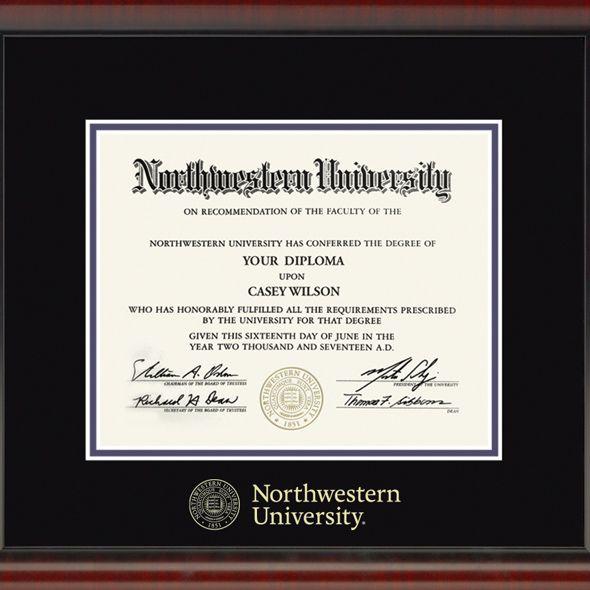 Northwestern University Diploma Frame, the Fidelitas - Image 2