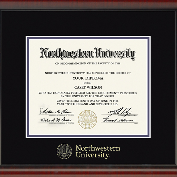 Northwestern University Diploma Frame, the Fidelitas - Image 2