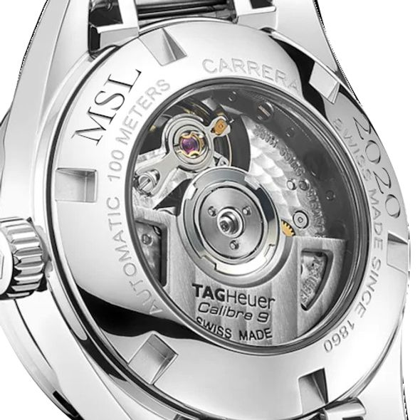 Brigham Young University Women's TAG Heuer Steel Carrera with MOP Dial & Diamond Bezel - Image 3