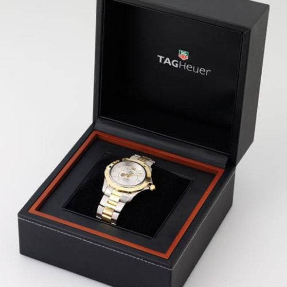 Brigham Young University Women's TAG Heuer Steel Carrera with MOP Dial & Diamond Bezel - Image 4