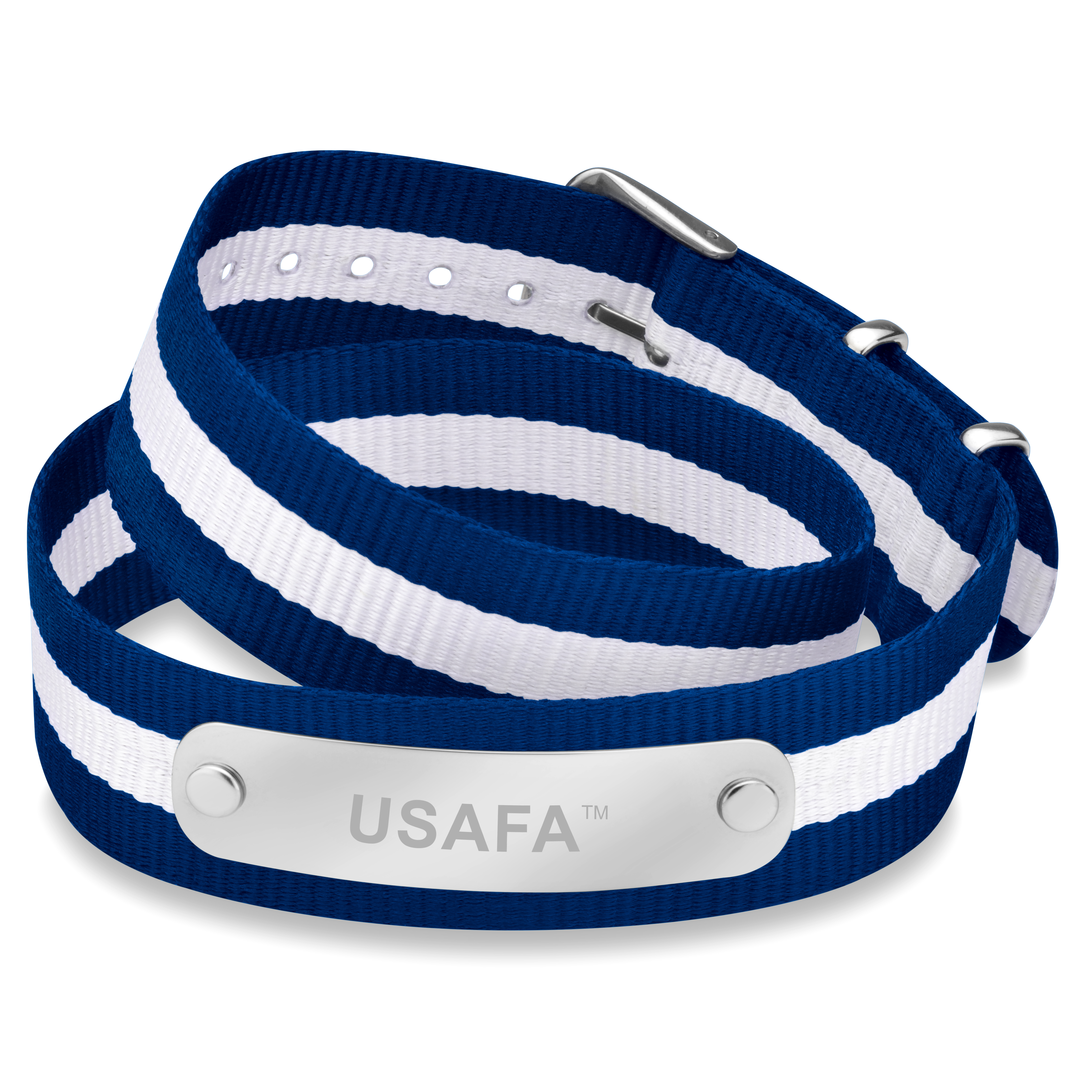 US Air Force Academy Double Wrap NATO ID Bracelet