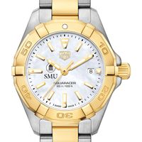 Southern Methodist University TAG Heuer Two-Tone Aquaracer for Women