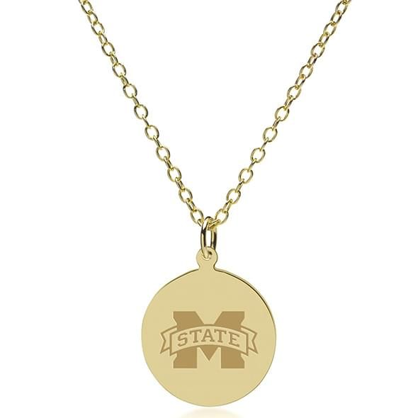 Mississippi State 14K Gold Pendant & Chain - Image 2