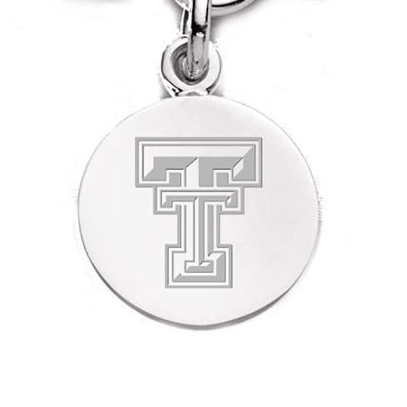 Texas Tech Sterling Silver Charm