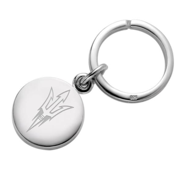 Arizona State Sterling Silver Insignia Key Ring - Image 1