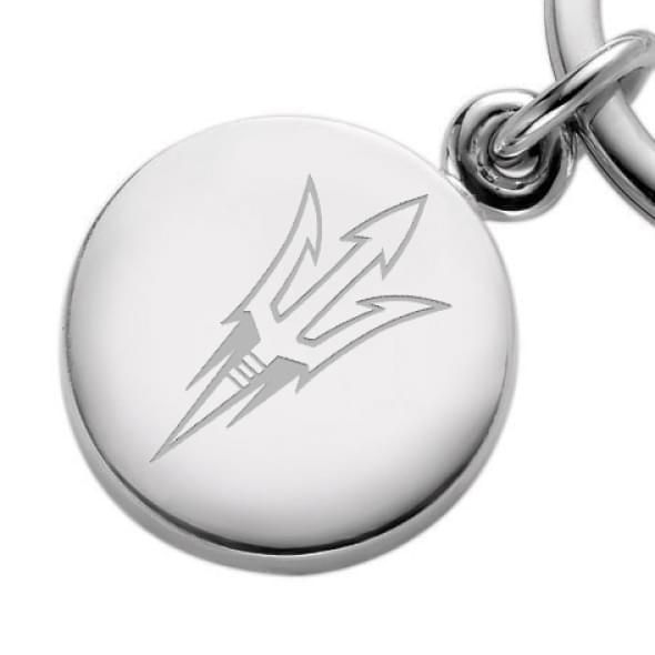 Arizona State Sterling Silver Insignia Key Ring - Image 2