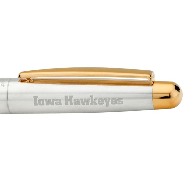 University of Iowa Fountain Pen in Sterling Silver with Gold Trim - Image 2