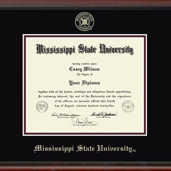 Mississippi State Diploma Frame, the Fidelitas - Image 2