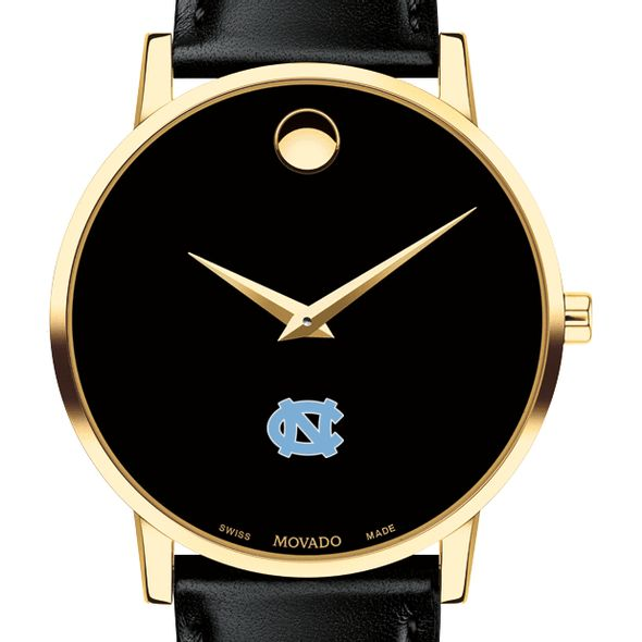 University of North Carolina Men's Movado Gold Museum Classic Leather