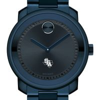 Stephen F. Austin State University Men's Movado BOLD Blue Ion with Bracelet