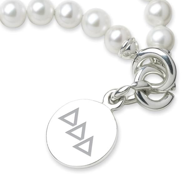 Delta Delta Delta Pearl Bracelet with Sterling Silver Charm - Image 2