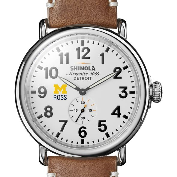 Michigan Ross Shinola Watch, The Runwell 47mm White Dial