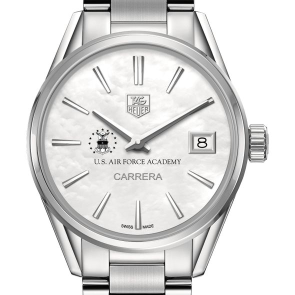 US Air Force Academy Women's TAG Heuer Steel Carrera with MOP Dial