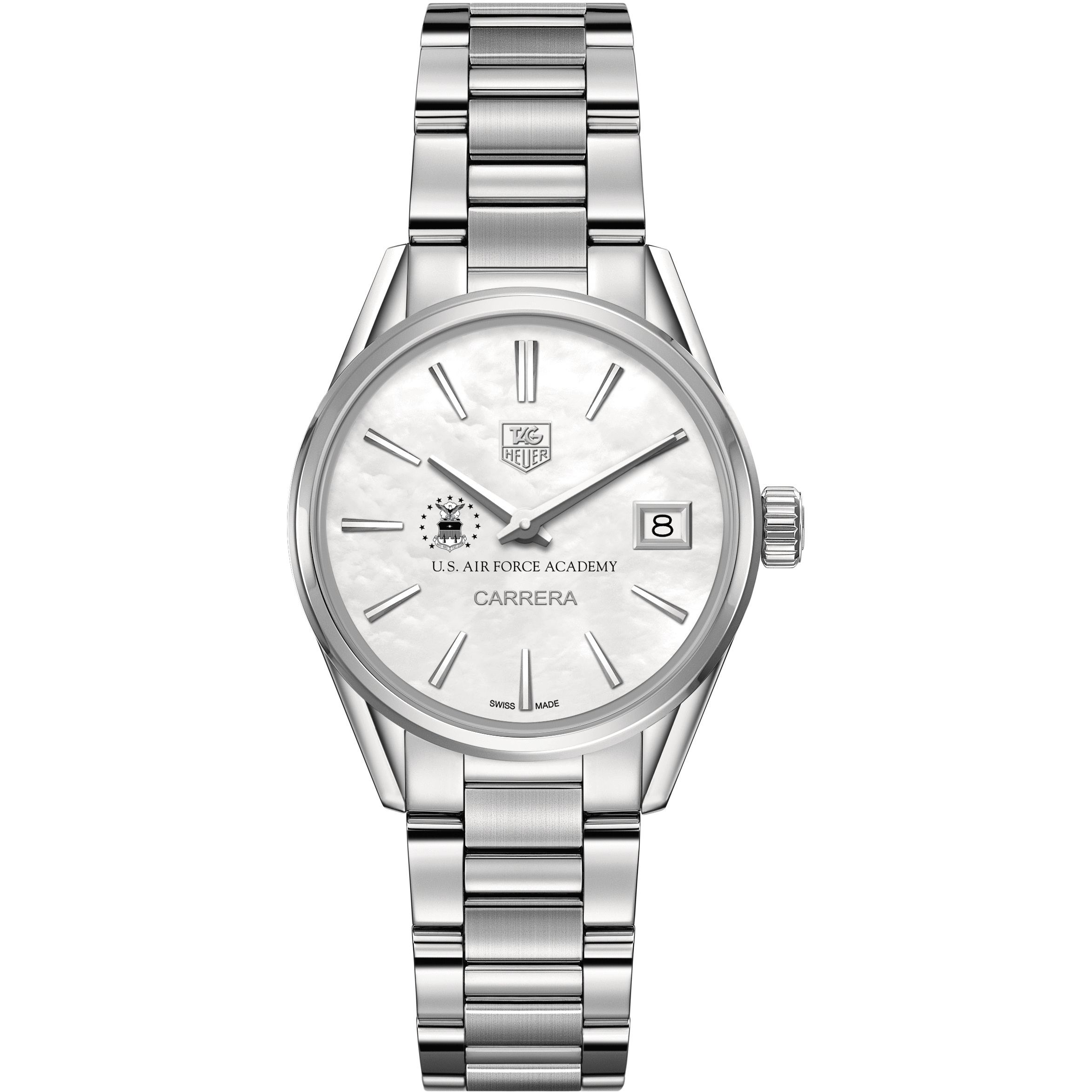 Air Force Academy Women's TAG Heuer Steel Carrera with MOP Dial - Image 2
