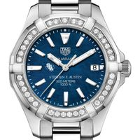 SFASU Women's TAG Heuer 35mm Steel Aquaracer with Blue Dial