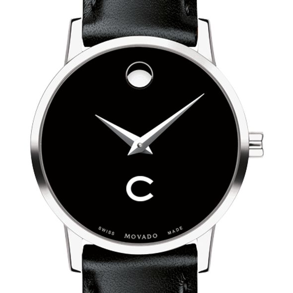 Colgate University Women's Movado Museum with Leather Strap