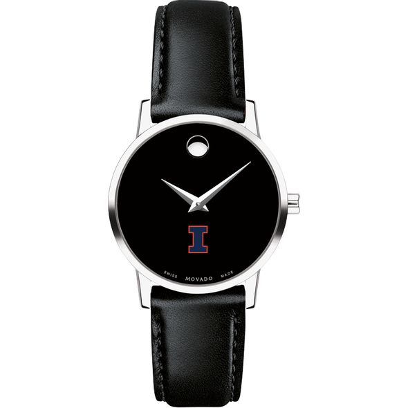 University of Illinois Women's Movado Museum with Leather Strap - Image 2