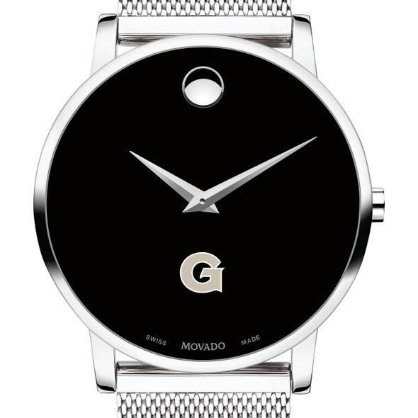 Georgetown University Men's Movado Museum with Mesh Bracelet - Image 1