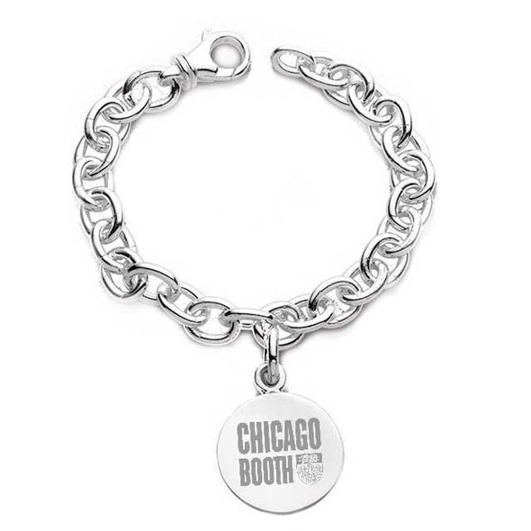 Chicago Booth Sterling Silver Charm Bracelet