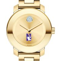 Northwestern University Women's Movado Gold Bold