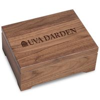 UVA Darden Solid Walnut Desk Box