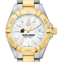 Central Michigan TAG Heuer Two-Tone Aquaracer for Women