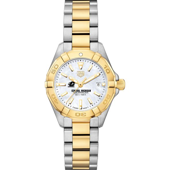 Central Michigan TAG Heuer Two-Tone Aquaracer for Women - Image 2
