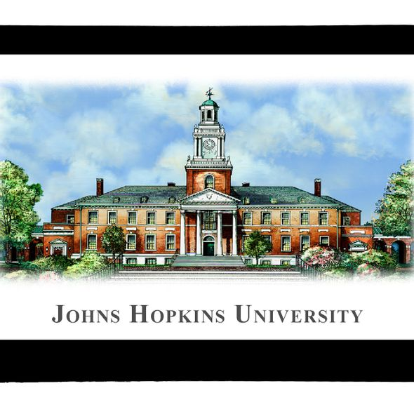 Johns Hopkins Eglomise Paperweight - Image 2