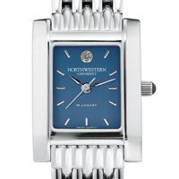 Northwestern Women's Blue Quad Watch with Bracelet