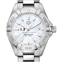 University of Miami Women's TAG Heuer Steel Aquaracer w MOP Dial