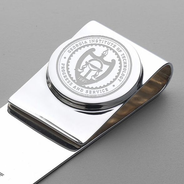 Georgia Tech Sterling Silver Money Clip - Image 2