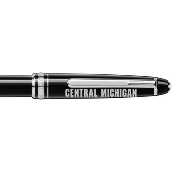 Central Michigan Montblanc Meisterstück Classique Rollerball Pen in Platinum - Image 2