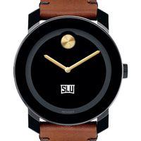 Saint Louis University Men's Movado BOLD with Brown Leather Strap