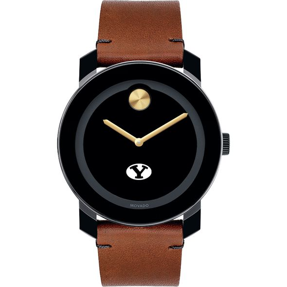 Brigham Young University Men's Movado BOLD with Brown Leather Strap - Image 2