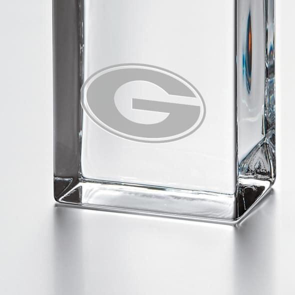 Georgia Tall Glass Desk Clock by Simon Pearce - Image 2