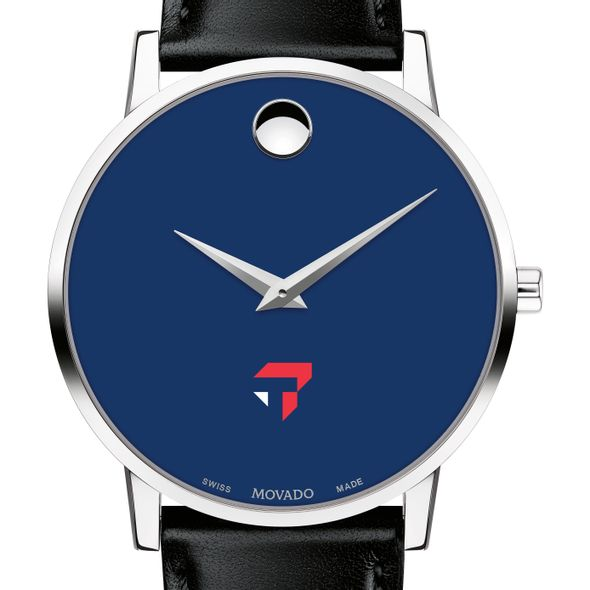 Tepper School of Business Men's Movado Museum with Blue Dial & Leather Strap