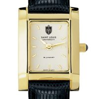 Saint Louis University Women's Gold Quad with Leather Strap
