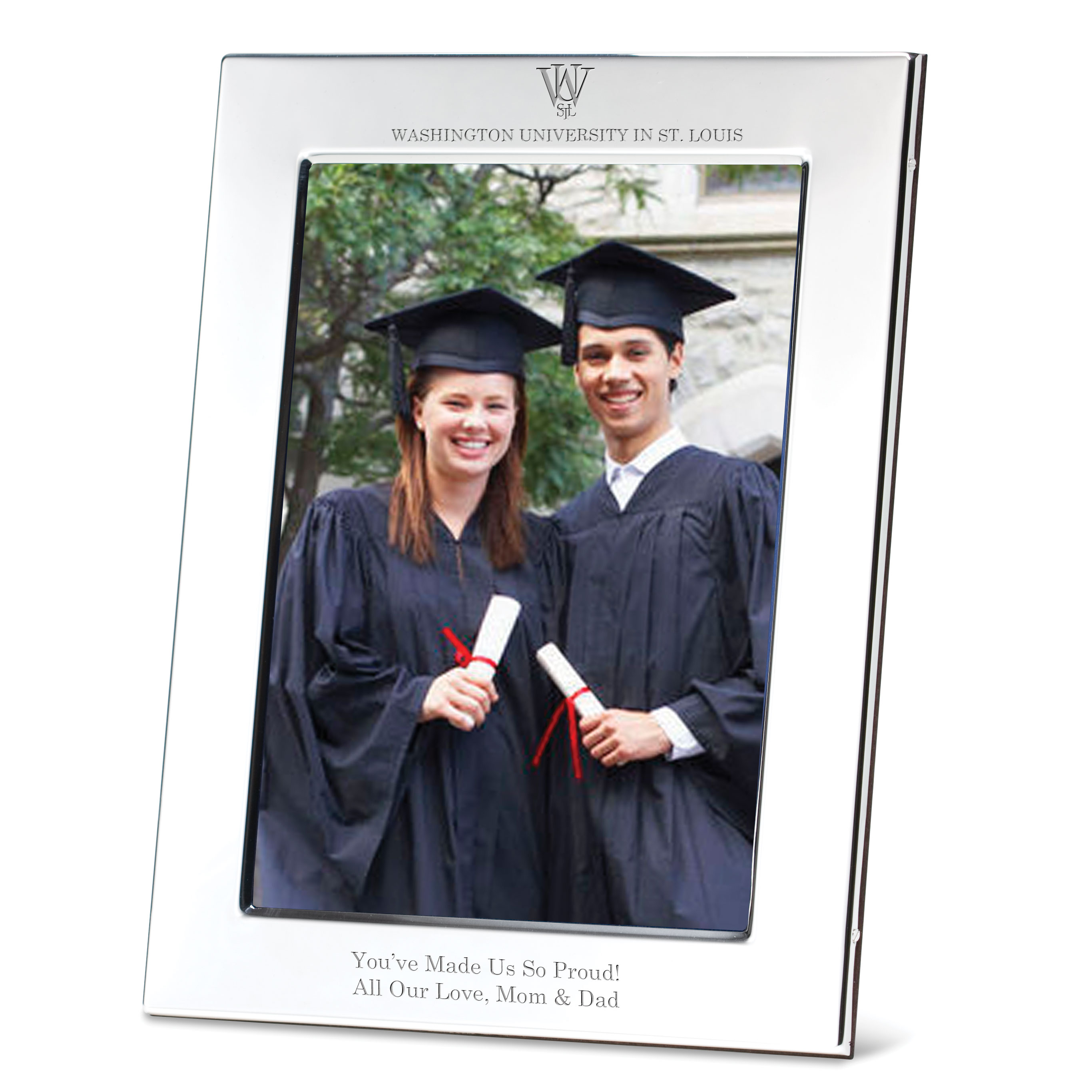 WUSTL Polished Pewter 5x7 Picture Frame