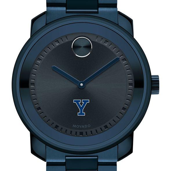 Yale University Men's Movado BOLD Blue Ion with Bracelet - Image 1