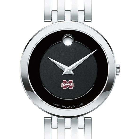 Mississippi State Women's Movado Esparanza Stainless Steel Museum with Bracelet