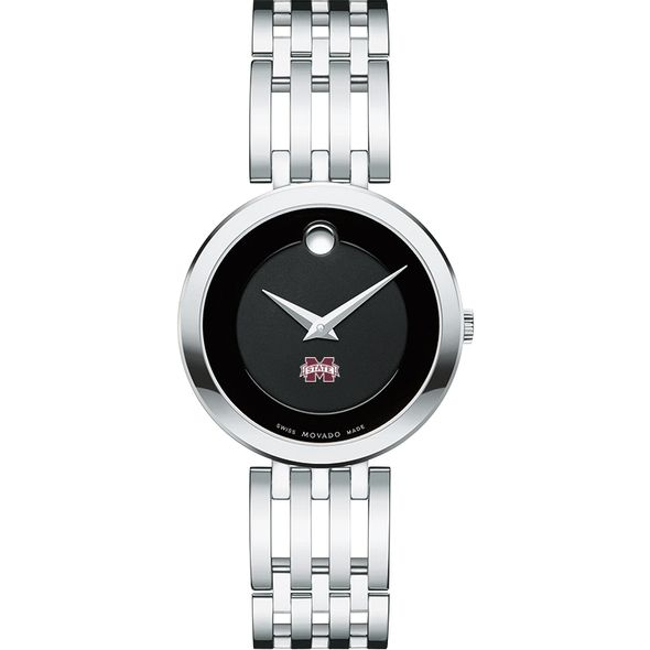 Mississippi State Women's Movado Esparanza Stainless Steel Museum with Bracelet - Image 2