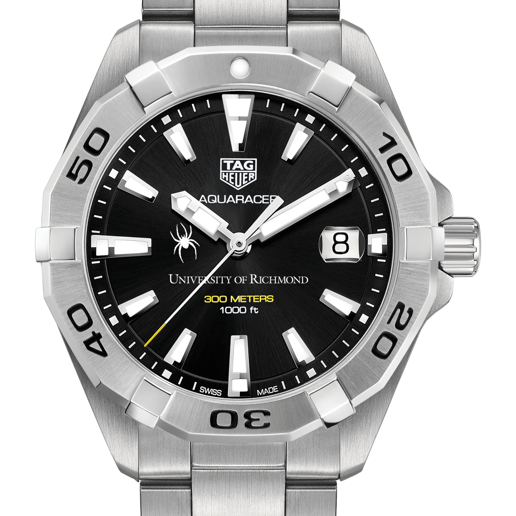 University of Richmond Men's TAG Heuer Steel Aquaracer with Black Dial
