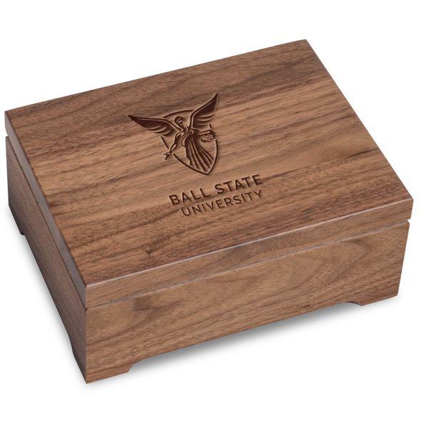 Ball State Solid Walnut Desk Box - Image 1