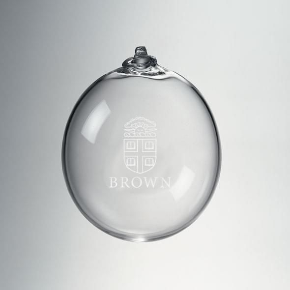 Brown Glass Ornament by Simon Pearce